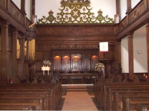 Interior of Crown Court Church