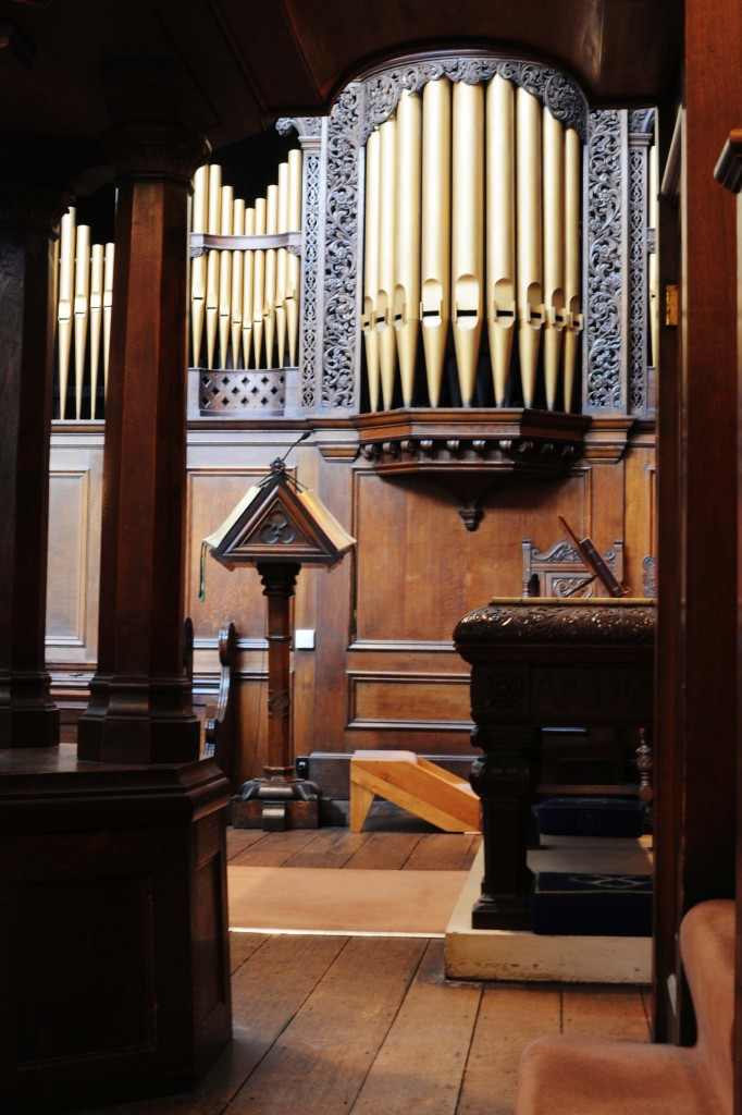 The church organ