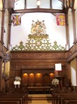 Hanoverian Arms above the Communion Table