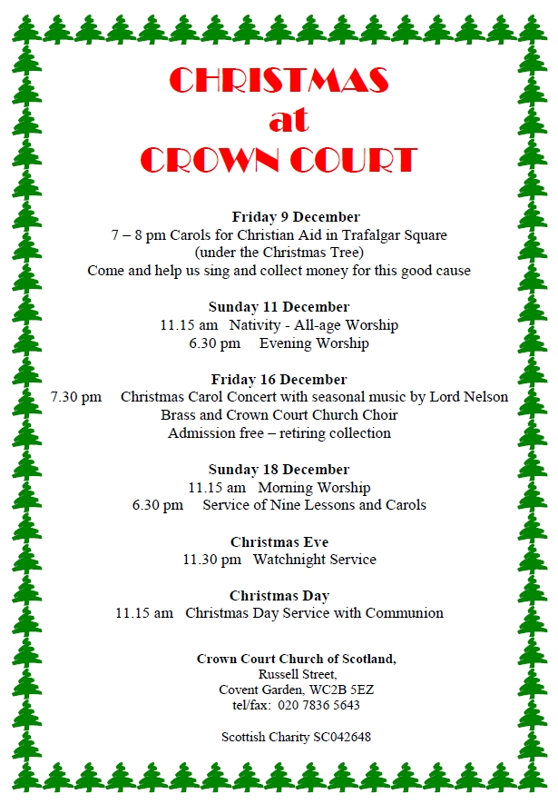 Poster for Christmas events