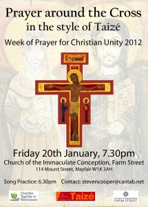 Poster for Prayer Round the Cross Service