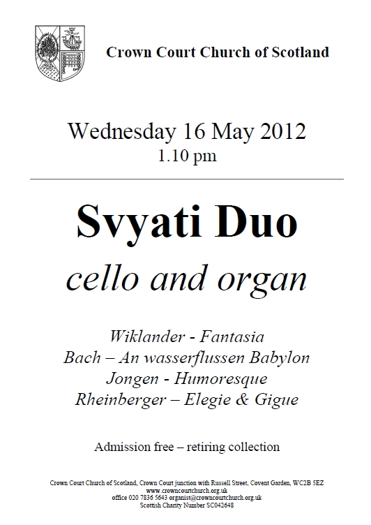 Poster for Svyati Duo concert