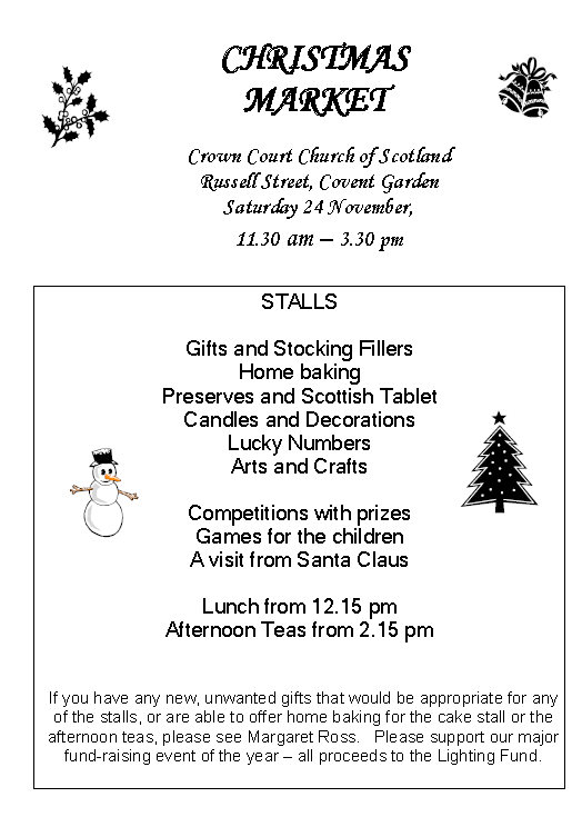 Poster for Christmas Market on 24 November