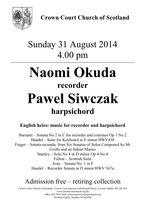 31 august concert poster