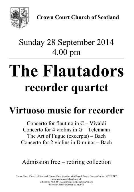 Poster for Flautadors concert