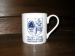 Blue Crown Court mug