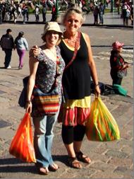 Becs & Ali in Cusco (during singing trip to Peru, August 2013)