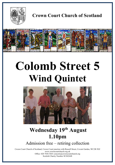 Poster for concert on 19 August