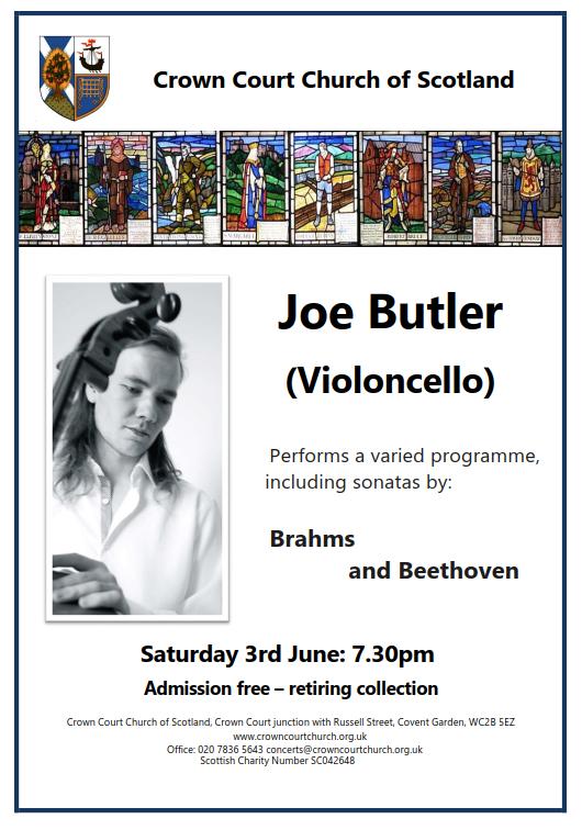 poster for 3 June concert
