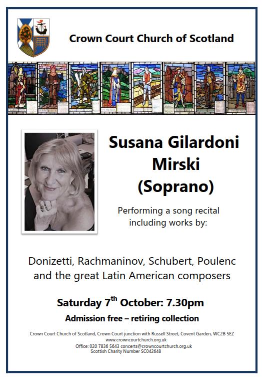Poster for 7 October concert