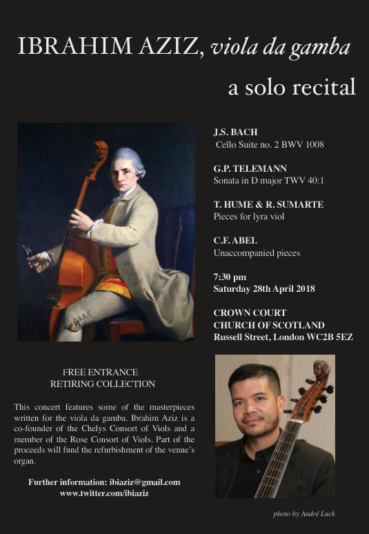 Poster for 28 April Concert