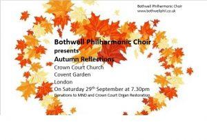 Bothwell Philharmonic Choir concert poster