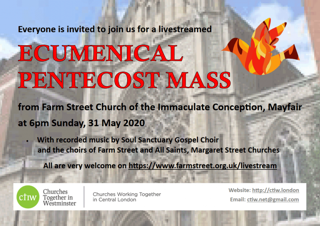 Poster for CTiW Pentecostal Mass