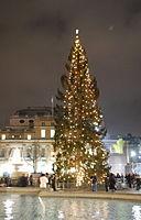 Trafalgar Square at Christmas