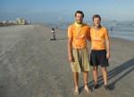 John Chestnut and Andrew Service on Jacksonville Beach