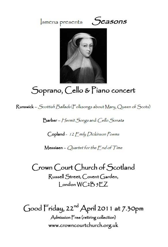 Poster for Seasons concert