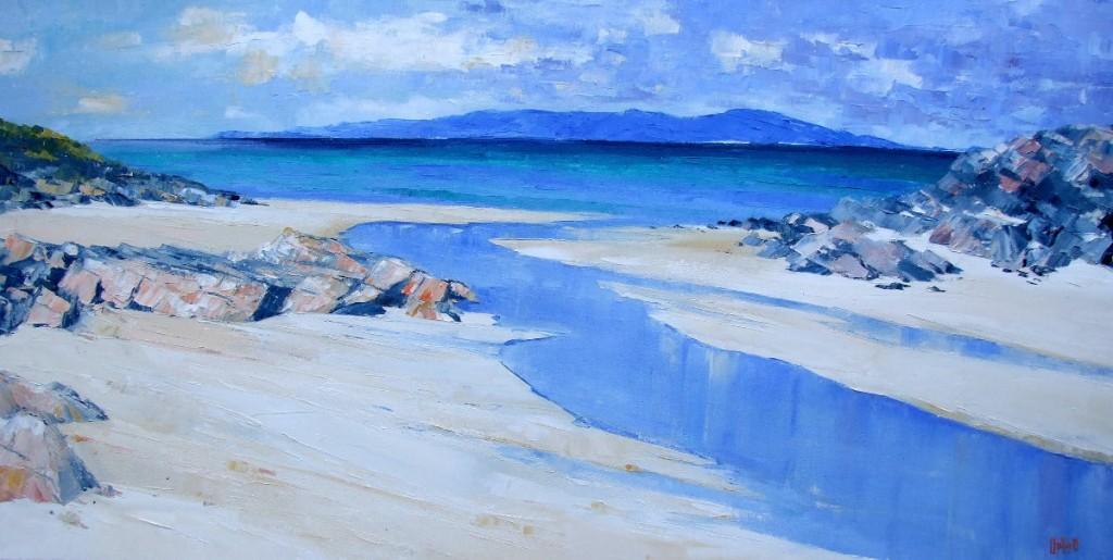 """Dark Island, Taransay from Harris"" by Erni Upton"