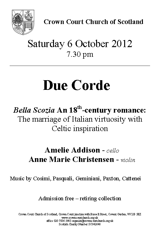 Poster for 06 October Due Corde