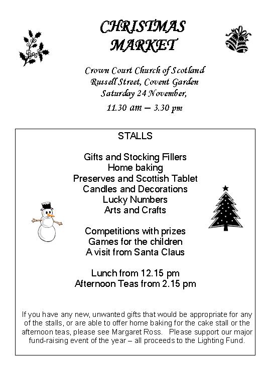 Poster for Christmas Market on 24 November