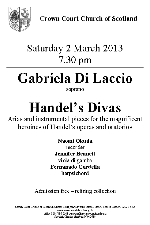 poster for 2 March concert