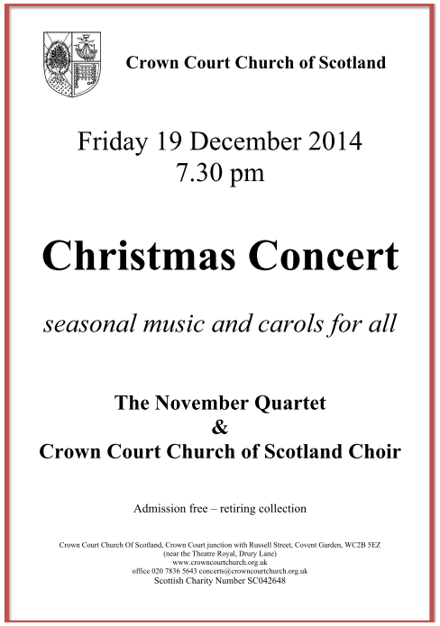 Poster for Christmas Concert