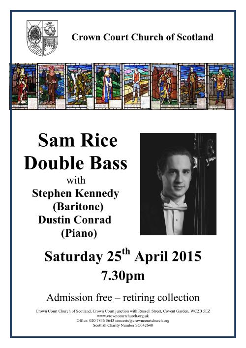 Poster for concert on 25 April