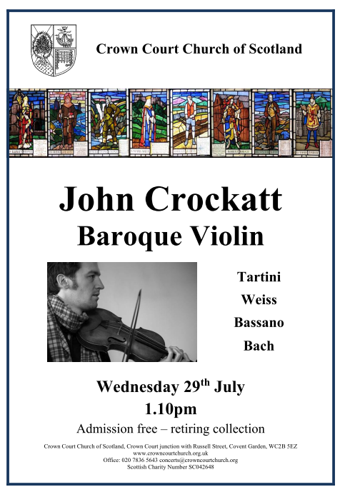 Poster for 29 July concert