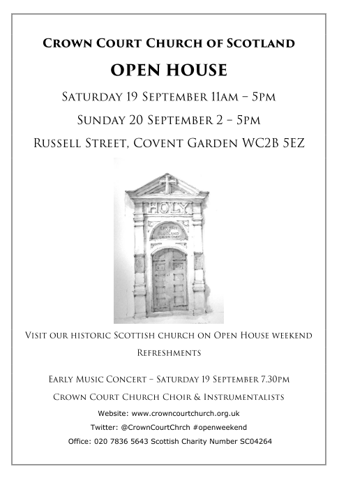 open house & early music poster