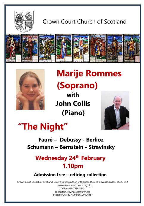 poster for 24 February concert