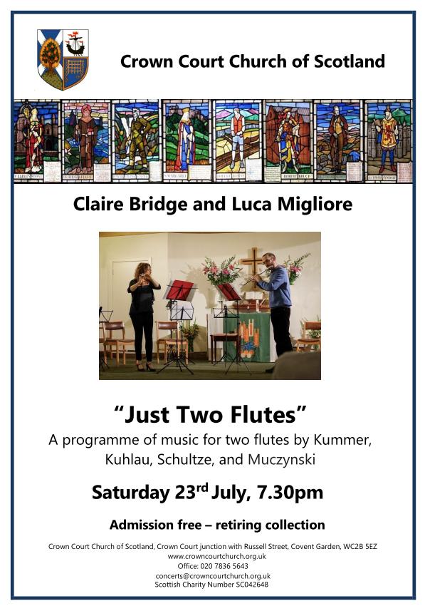 Poster for 23 July concert