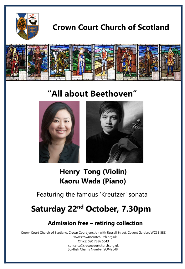 Poster for concert on 22 October