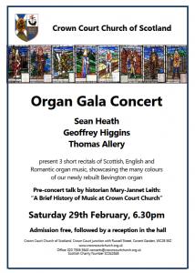 Poster for teercentenary organ concert