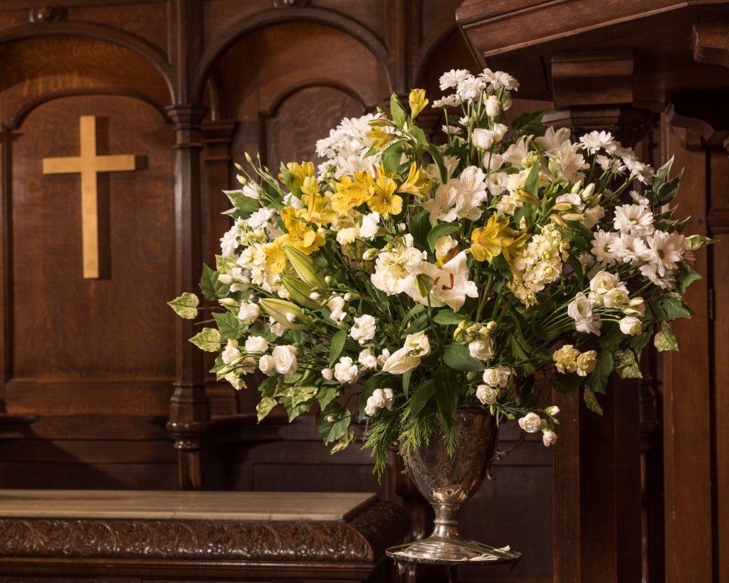 A picture of flowers in the Sanctuary at Crown Court