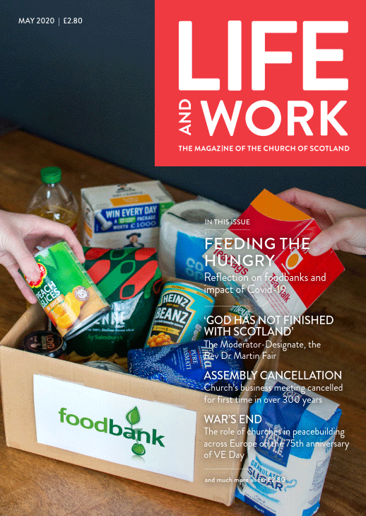 Cover image of the May 2020 issue of Life and Work magazine